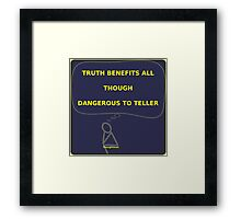 Thought Man - Truth 2 Framed Print