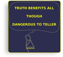 Thought Man - Truth 2 Canvas Print