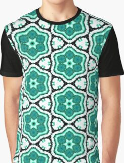Teal flowers Graphic T-Shirt