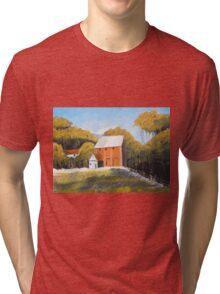 Farm and Red Barn Tri-blend T-Shirt