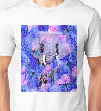 ELEPHANT AND FLOWERS Unisex T-Shirt