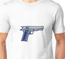 1911 Semi-Automatic Pistol Side Retro Unisex T-Shirt