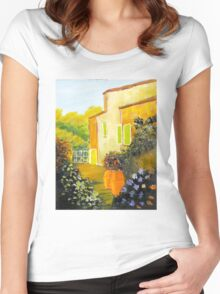 Tuscany Courtyard Women's Fitted Scoop T-Shirt
