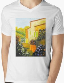 Tuscany Courtyard Mens V-Neck T-Shirt