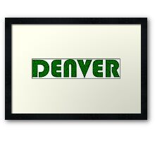 Denver Colorado Weed Leaf Pattern Framed Print