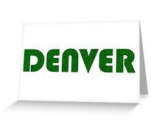 Denver Colorado Weed Leaf Pattern Greeting Card