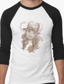 Steampunk Girl Men's Baseball ¾ T-Shirt