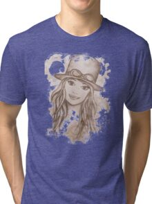 Steampunk Girl Tri-blend T-Shirt