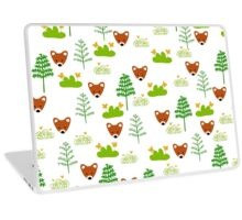 Hide and Fox Pattern and Drawing Laptop Skin