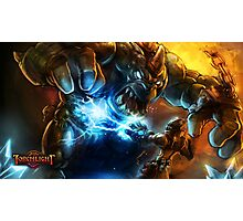 Orc Vs Mage Photographic Print