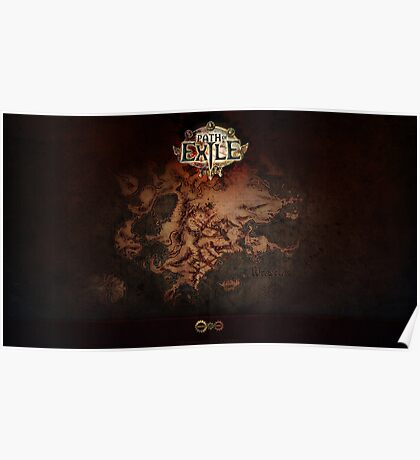 Path of Exile Map Poster
