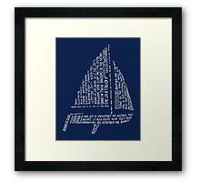 Sailing Tips Framed Print