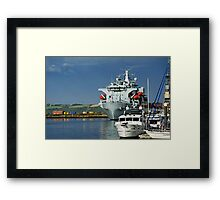 RFA Argus at Falmouth Docks Framed Print