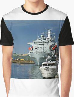 RFA Argus at Falmouth Docks Graphic T-Shirt