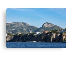 Sailing to Sorrento, Perched Atop Imposing Cliffs on the Bay of Naples, Italy Canvas Print