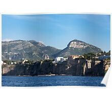 Sailing to Sorrento, Perched Atop Imposing Cliffs on the Bay of Naples, Italy Poster
