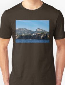 Sailing to Sorrento, Perched Atop Imposing Cliffs on the Bay of Naples, Italy T-Shirt