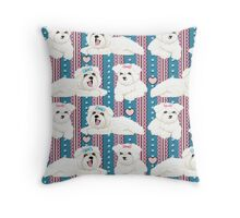 Bolognese Puppies Throw Pillow