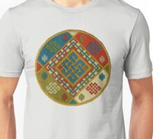 Buddhist Endless Knot Embroidery Unisex T-Shirt