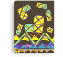 70s Retro Geometric Pattern Canvas Print