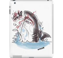 great white bite himself iPad Case/Skin