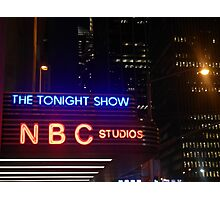 The Tonight Show at Rockefeller Center Photographic Print