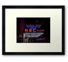 Rockefeller and Radio City in the Light of Night Framed Print