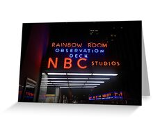 Rockefeller and Radio City in the Light of Night Greeting Card