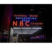 Rockefeller and Radio City in the Light of Night Photographic Print