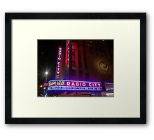 The Lights of Radio City Framed Print