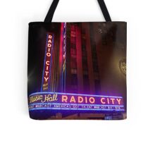 The Lights of Radio City Tote Bag