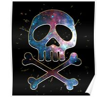 Space Pirate, Skull, Crossbones, Captain, Bone, Anime, Comic Poster