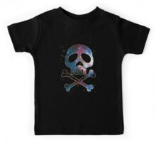 Space Pirate, Skull, Crossbones, Captain, Bone, Anime, Comic Kids Tee