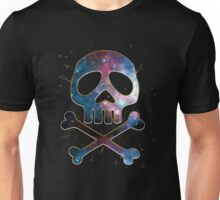 Space Pirate, Skull, Crossbones, Captain, Bone, Anime, Comic Unisex T-Shirt