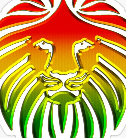 Like a Lion, Reggae, Rastafari, Africa, Jah, Jamaica,  Sticker