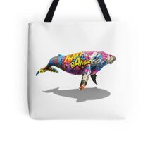 Tagged Whale Tote Bag
