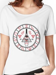 Gravity Falls vs Silent Hill: Seal of Bill Metatron (BLACK VERSION) Women's Relaxed Fit T-Shirt