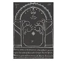 Lord Of The Rings - The Doors Of Durin ( Hand drawn) Photographic Print