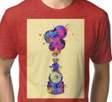 Watercolor Train Tri-blend T-Shirt