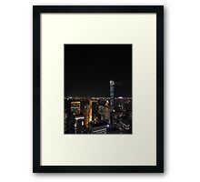 The Lights of Midtown Manhattan Framed Print