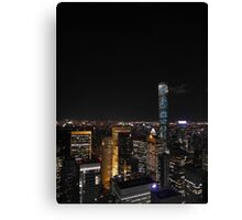 The Lights of Midtown Manhattan Canvas Print