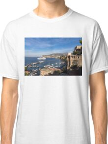 Postcard from Sorrento, Italy - the Harbor, the Boats, and the Famous Clifftop Hotels Classic T-Shirt