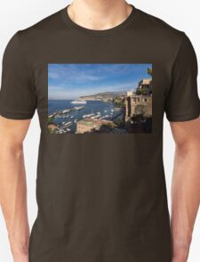 Postcard from Sorrento, Italy - the Harbor, the Boats, and the Famous Clifftop Hotels T-Shirt
