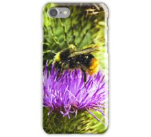 bee on thistle with insects iPhone Case/Skin
