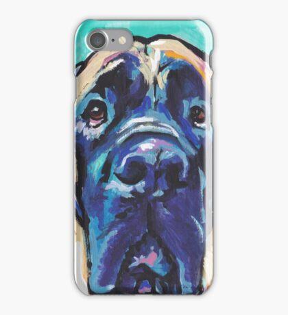 English Mastiff Bright colorful pop dog art iPhone Case/Skin