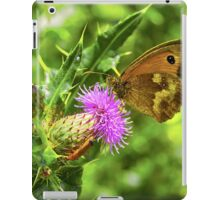 Butterfly on a thistle with orange insect iPad Case/Skin