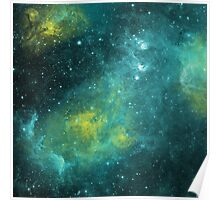 Water Color Space Poster