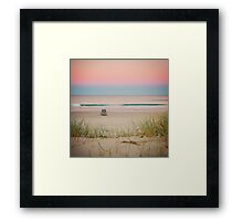 Twilight beach dreams Framed Print