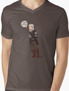 Geralt Hates Politics Mens V-Neck T-Shirt