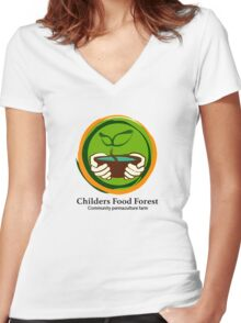 Childers Food Forest Women's Fitted V-Neck T-Shirt